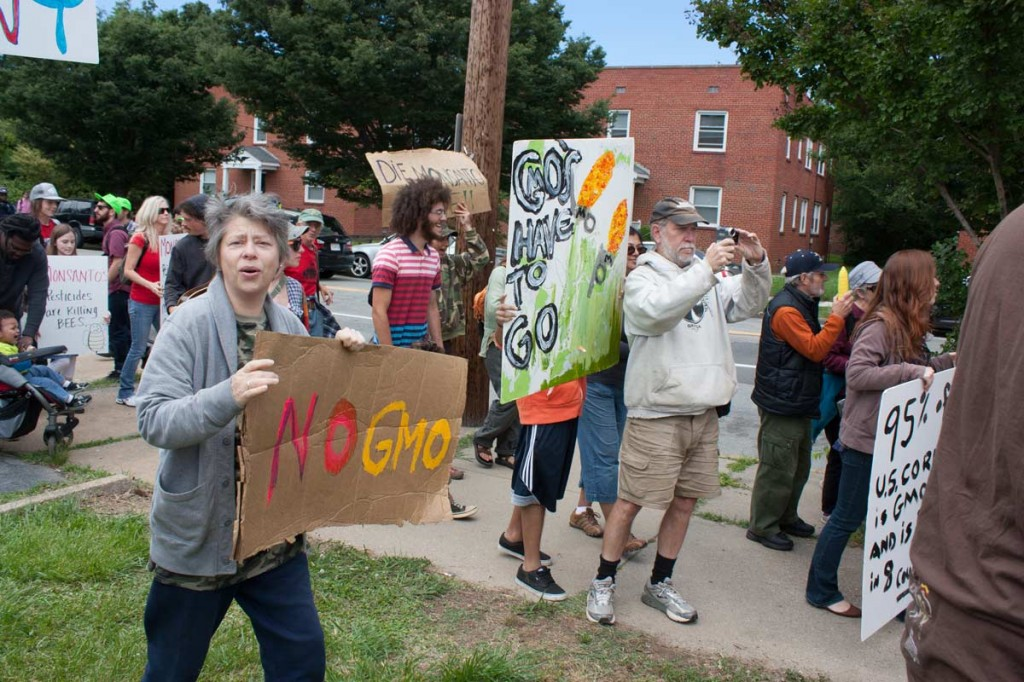 Richmond virginia monsanto protests gmo labeling sese southern exposure organic farming heirloom seed business