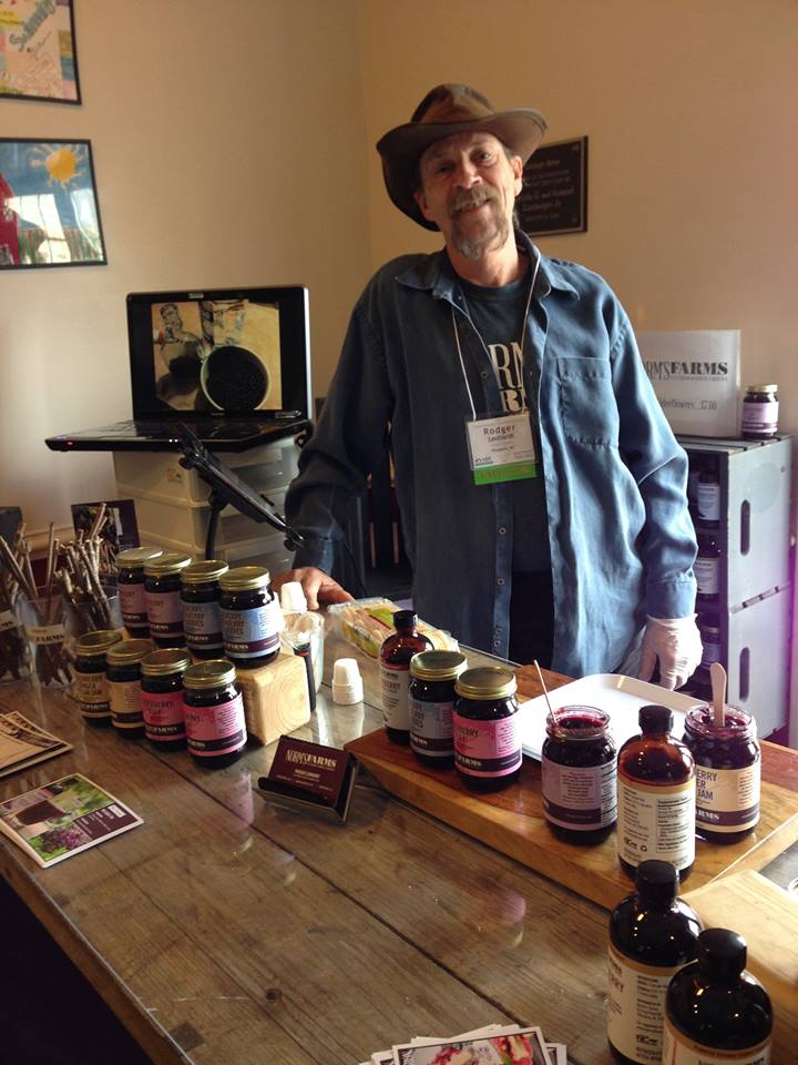 Rodger Lenhardt with his elderberry wares