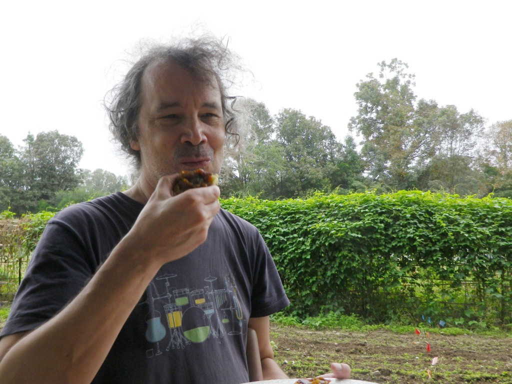 Oct 2016 (31) Ken eats pumpkin butter on a biscuit prcsd